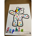 Sophia's Pudsey work