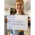 Sophia's Maths from Thursday