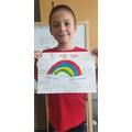 George's rainbow picture.