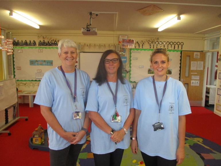 Mrs Orpin, Mrs Shelton and Mrs Kelly
