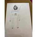 Sophia's astronaut sketch
