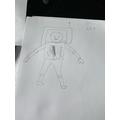 Ellie's astronaut sketch