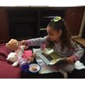 Robyn completing Tuesdays Teddy Bear Picnic.