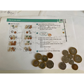 Phoebe used real coins to find different ways to make the same amount.
