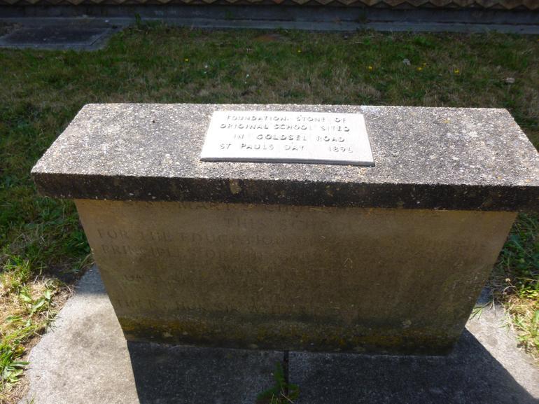 Original Foundation stone from 1896.