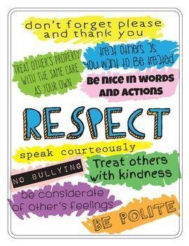 WB 16.22.20 - RespectJesus taught us to respect others and treat others as you would expec