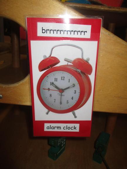 Suddenly the alarm clock went BRRRRRRRRRR