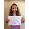 Robyn's rainbow picture.