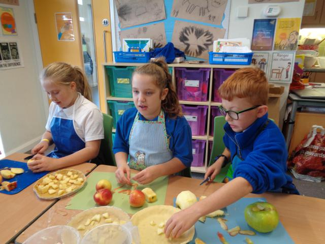Making pies