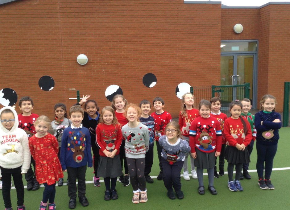 Chestnut enjoyed their Christmas Jumper day and santa run. The children ran a lot of laps!