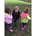 We enjoyed a fun welly walk on our school field.