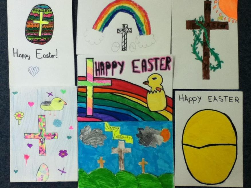 We thought about the meaning of Easter.