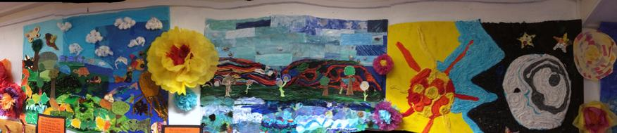 Creation Pause Day - a display by the whole school