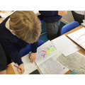 We took a look at other people's mythological creature pictures and gave feedback