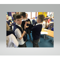 We staged the hilarious wedding scene from our class text, 'Who Let the Gods Out?'