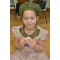 An evacuee eating lunch.