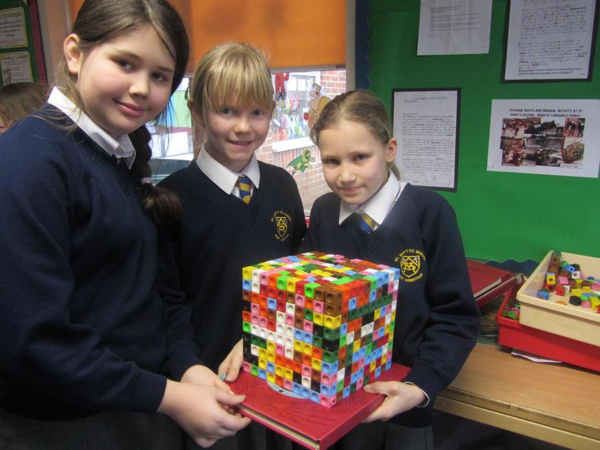 We found that 10 cubed is 1,000!