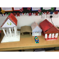 Our village of Greek temples, built using everything from recycled bottles and Lego!