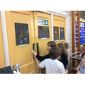 We created beautiful artwork based on Pentecost.