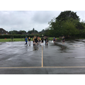 Playing tag rugby in P.E.