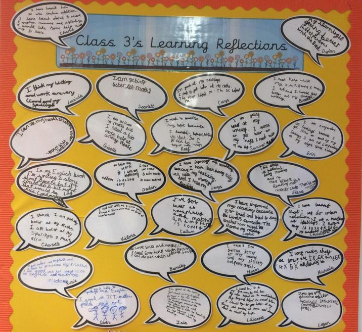 Our Learning Reflections- Autumn 1 display.