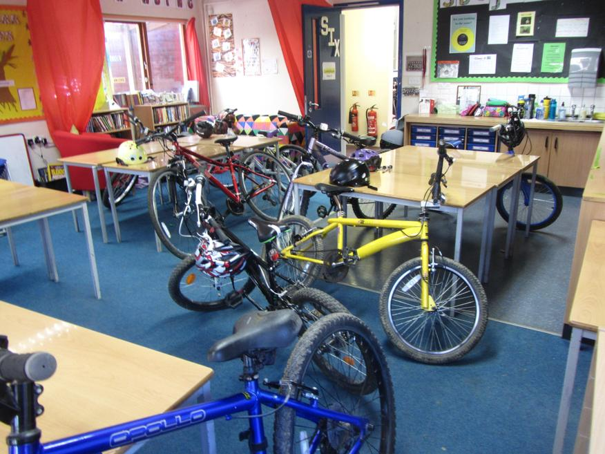 Why does our classroom look like Halfords?