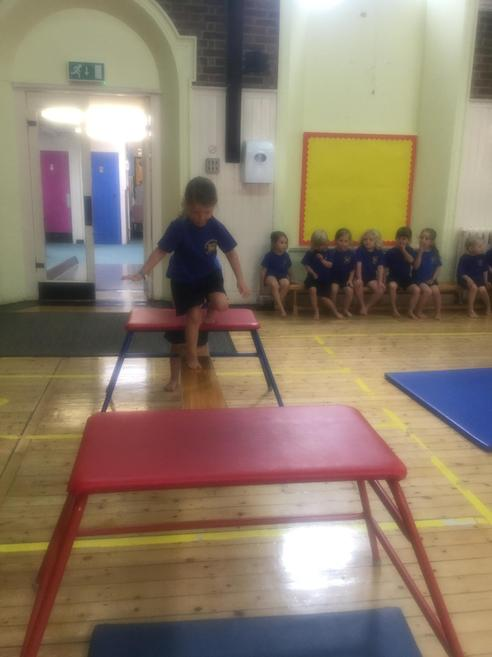 Practicing balance and coordination