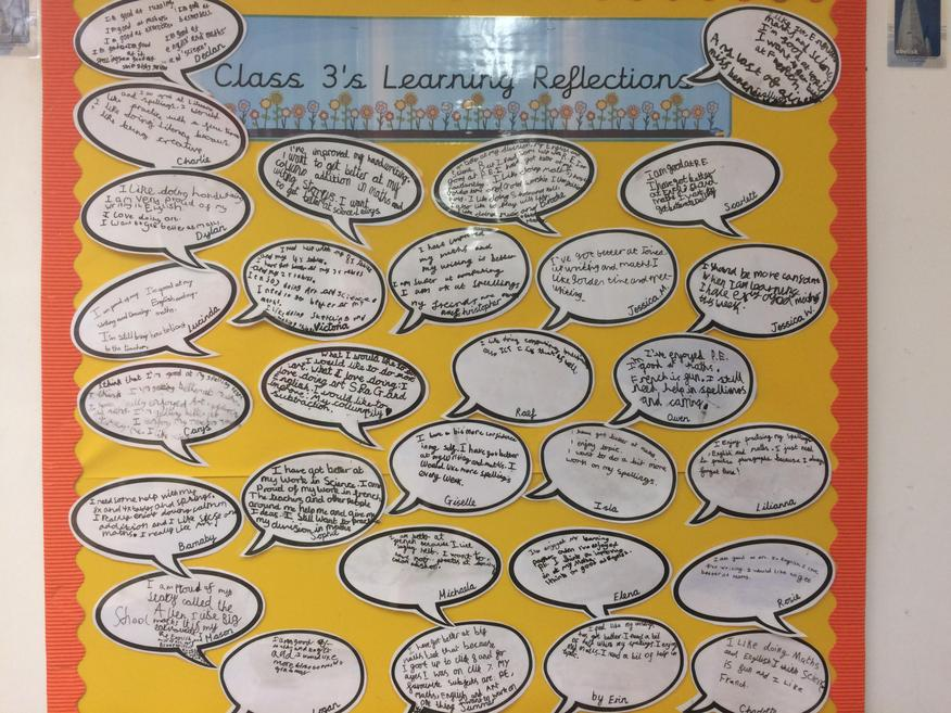 Our Learning Reflections - December display.
