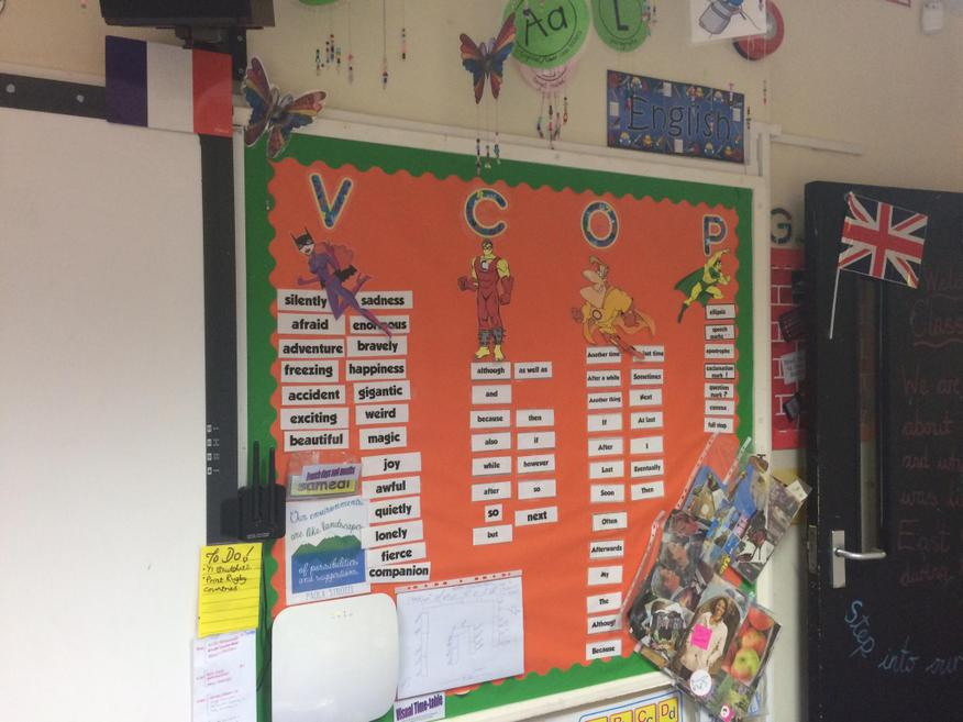 VCOP and Marking Stampers Display.