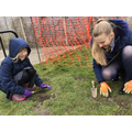 Getting our 'green' fingers dirty outside