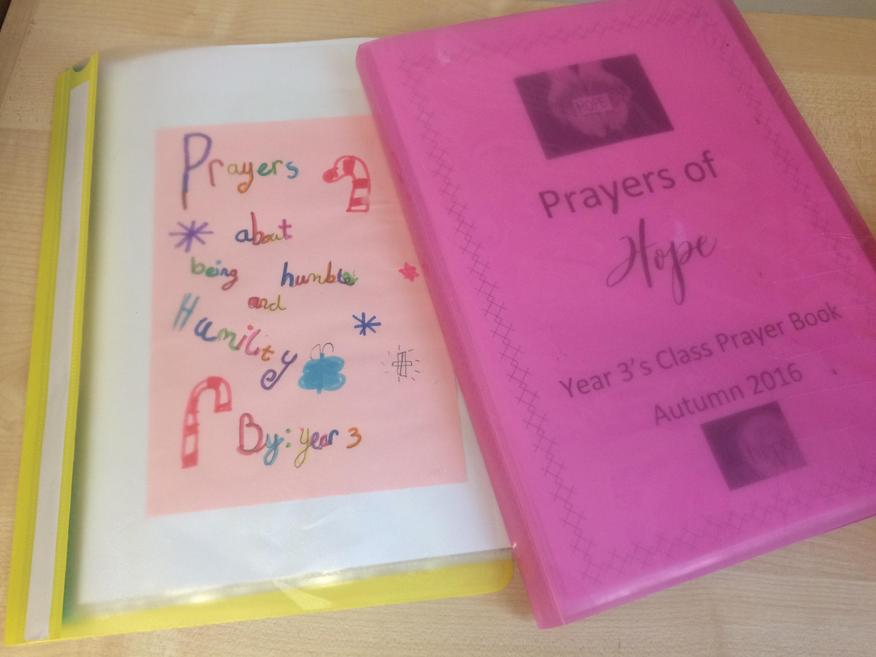 Our Christian Values Class Prayer Books.
