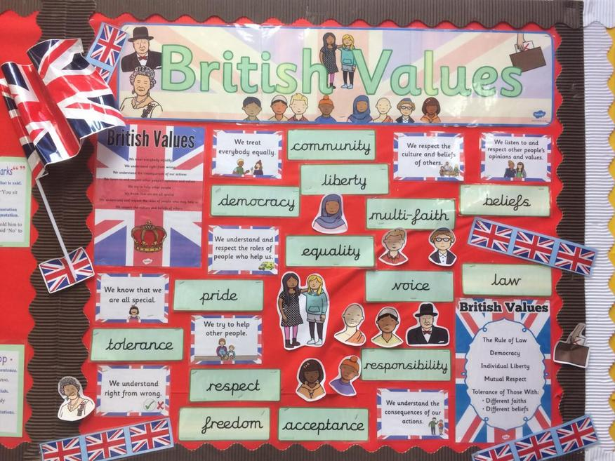 British Values display.