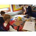 We also designed and created our own traditional Ancient Greek shields