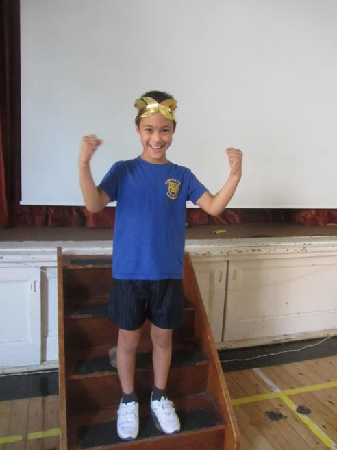 Winners were given an olive leaf crown!