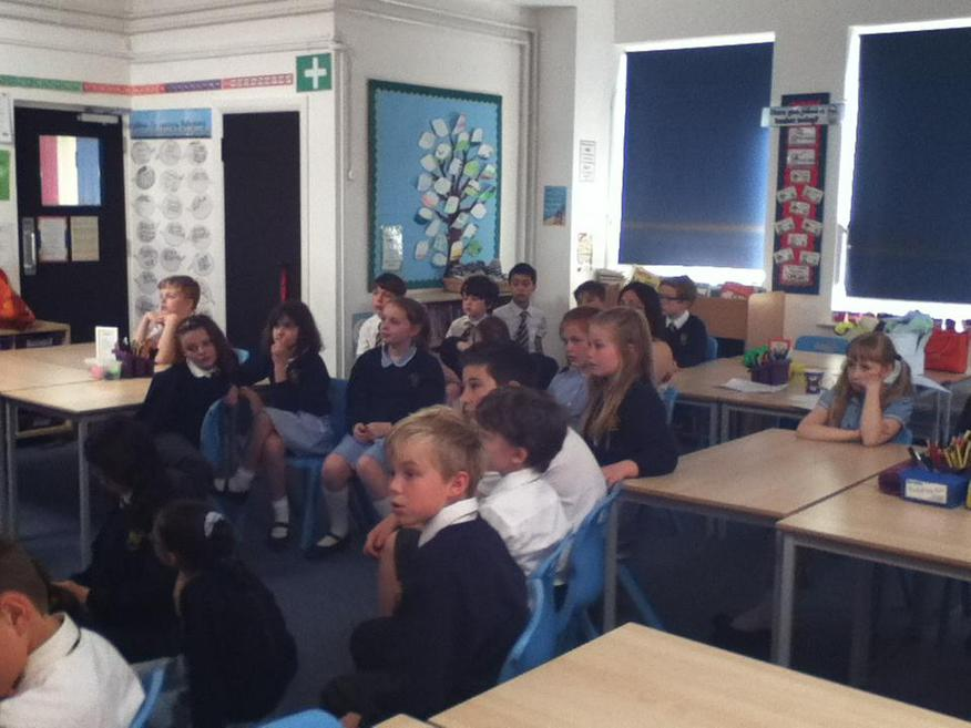 We listened quietly and very carefully.