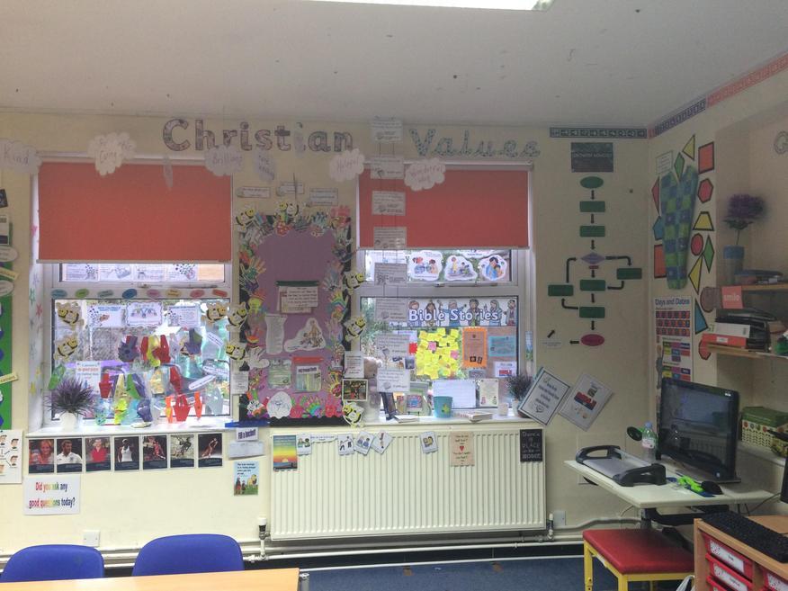 Christian Values, Class Worship & Reflection Area.
