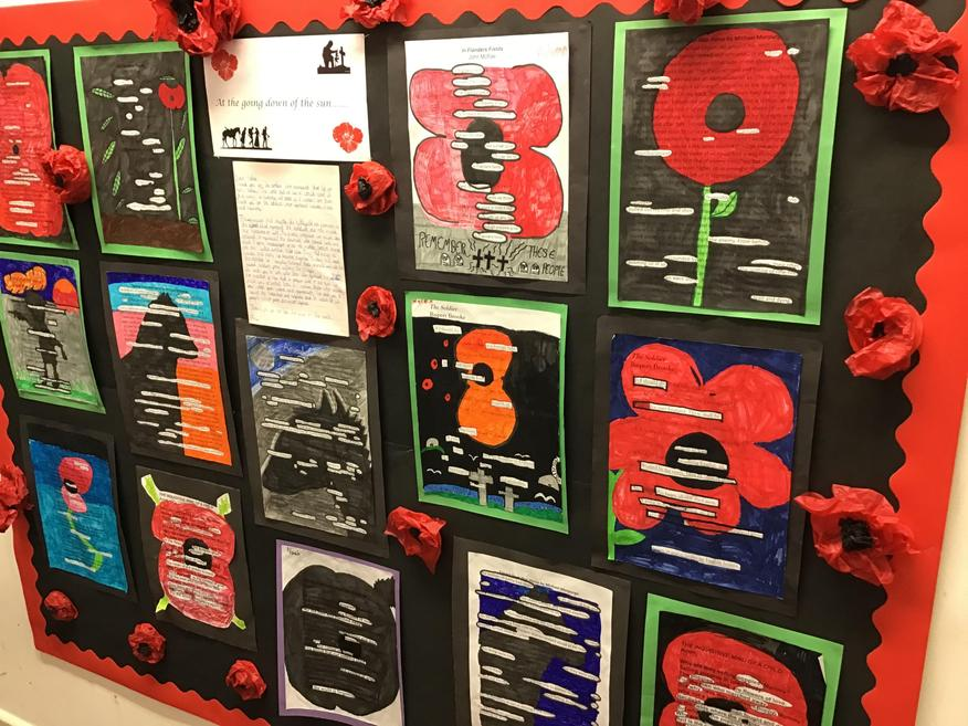Our Remembrance display