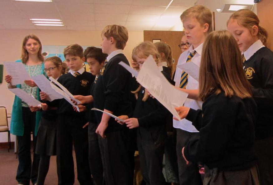 Singing in the local community.