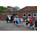 Arriving at the Church Hall.