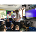 We were treated to a lesson on black holes from our resident space expert!