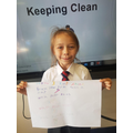 We made posters on how to keep ourselves clean in Science!