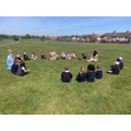Year 1 walked around the local area to identify human and physical features around us ...