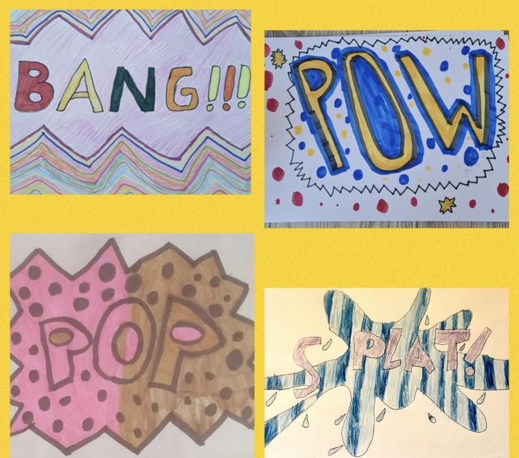 We made onomatopoeia pop art!