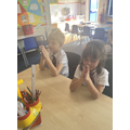 During the Month of the Rosary, we made and prayed with our own Rosary beads.