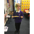 Our fruit kebabs.