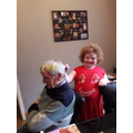 Colouring Grandad's hair!
