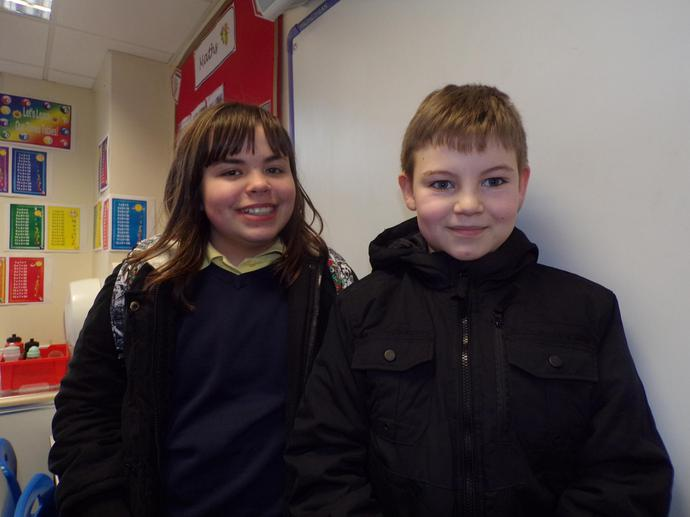 Two year 6 children represented St. Mary's.