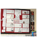 Finished display of monarchs in UK history.