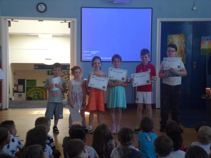 Writers of the month awards