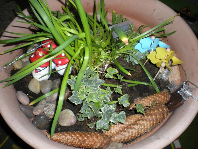 and a mysterious fairy garden appeared too.